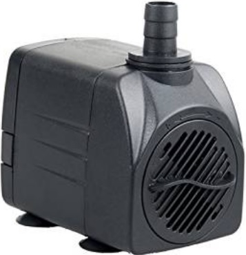 Low pressure pumps are perfect for a homemade DWC system. Small aquarium and pond pumps like this come in a wide variety of sizes to fit your project