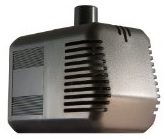 A 300-400 GPH pump is perfect for a small garden in the 4ft x 4ft  to 4ft x 8ft range
