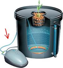 hydroponic reservoir with air bubbler