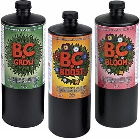 There are many different base nutrients to choose from. Most hydroponic nutrients are three part systems. B.C. Nutrients are one of my favorites
