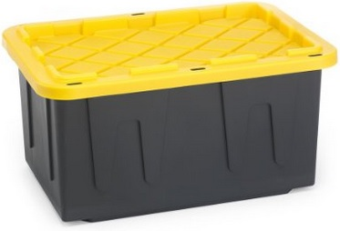 These heavy duty storage totes make great nutrient reservoirs. They are sturdy, and they also prevent light from hitting the nutrient solution