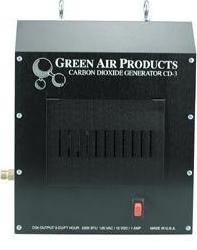 Gas powered CO2 generators will add a little heat to your grow room.