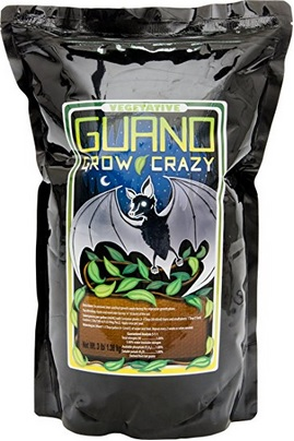 Pictured here- high Nitrogen bat guano from HydroFarm
