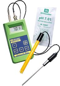 An advantage to using a pH meter instead of pH test drops- If the nutrient solution is dark, the pH meter will still tell you the pH accurately!