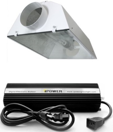 A 600 watt light is ideal for a garden 4'x4' to 4'x8' in size