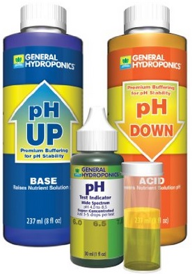 The most affordable way to go is to purchase the pH indicator drops as part of a pH control kit (the drops can be purchased separately)
