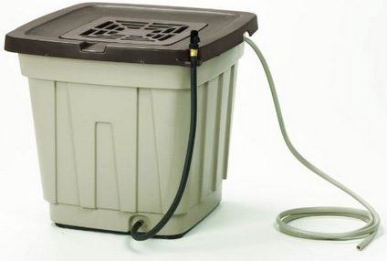 This 50 gallon rainwater collection barrel is relatively light-proof, sturdy, and affordable.