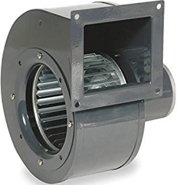 This 273 CFM squirrel cage fan costs about the same as some much stronger centrifugal fans